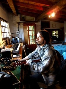 Spanish rock musician, David Little, at work in El Gallinero.