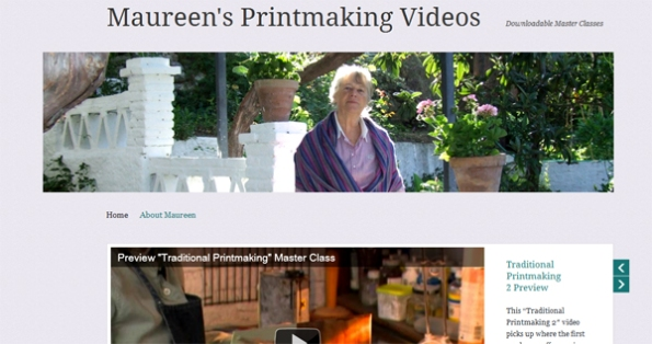 Maureen Booth's new printmaking videos site